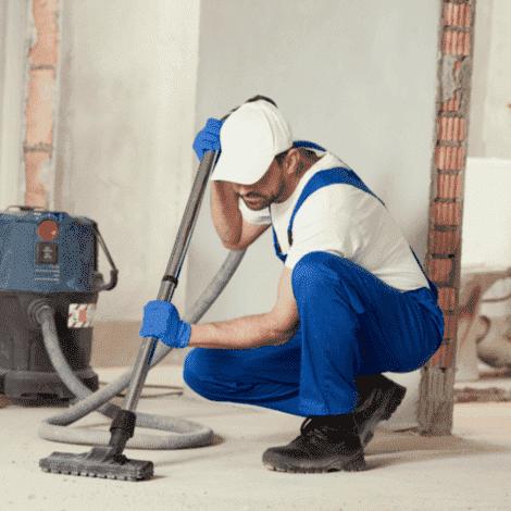 Limpiando una fin de obra